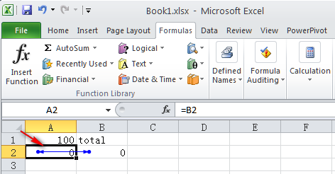 how to make a circular reference formula in excel